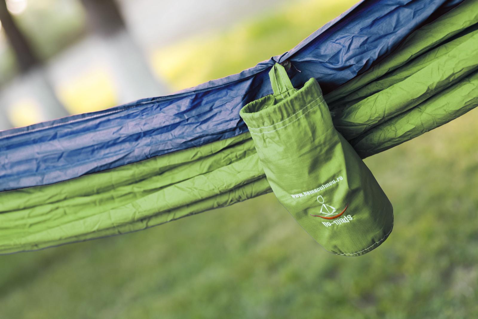 hamac ripstop green-blue detaliu