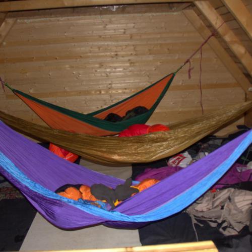 Dormit in hamac la cabana